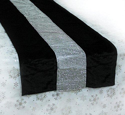 Silver Velvet Bejeweled Christmas Runner product image