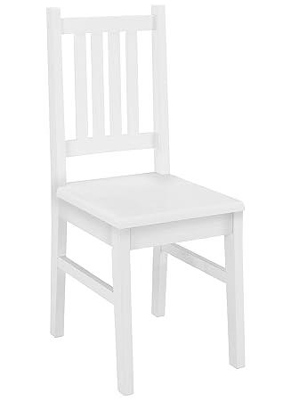 Amazonde Weißer Stuhl Eris Küchenstuhl Massivholzstuhl