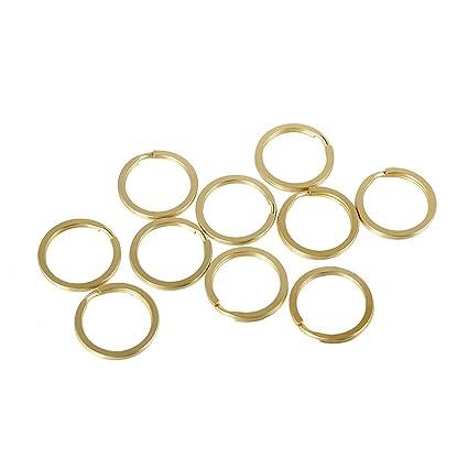 New Premium Quality Round Split ring Key Ring Hoop Loop Oval Bag Charm 30mm UK