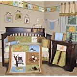 Custom Baby Bedding - Forest Friends 13 PCS Crib Bedding Set