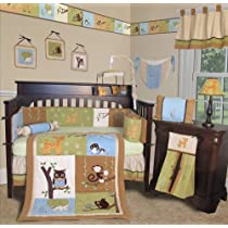 Custom Baby Bedding - Forest Friends 15 PCS Crib Bedding Set