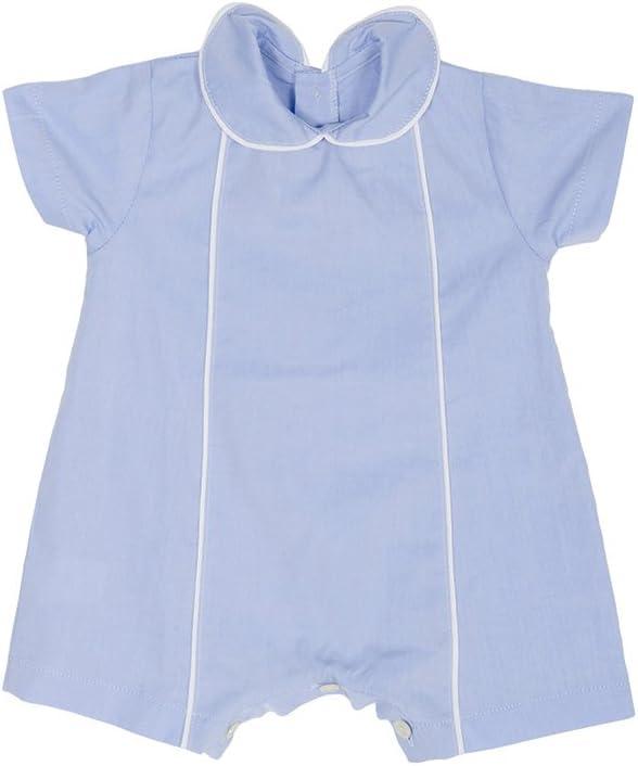 Pijama Bebé de popelín Azul Talla 0 meses: Amazon.es: Bebé