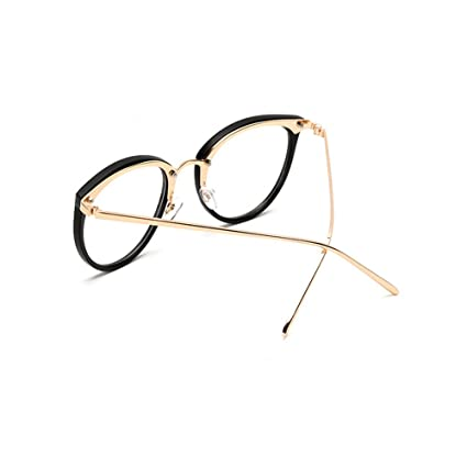 feaa4c4a487 Retro Plain Glasses Frame Non-prescription Eyewear Round Vintage Goggles Eyeglasses  Spectacles Optical Frame