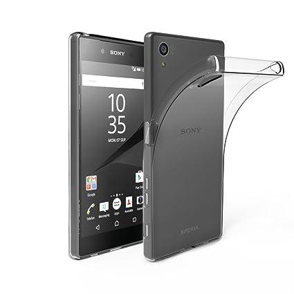 EasyAcc Sony Xperia Z5 Hülle Case Transparent Handyhülle Schutzhülle TPU Crystal Clear Case Backcover Bumper Slimcase