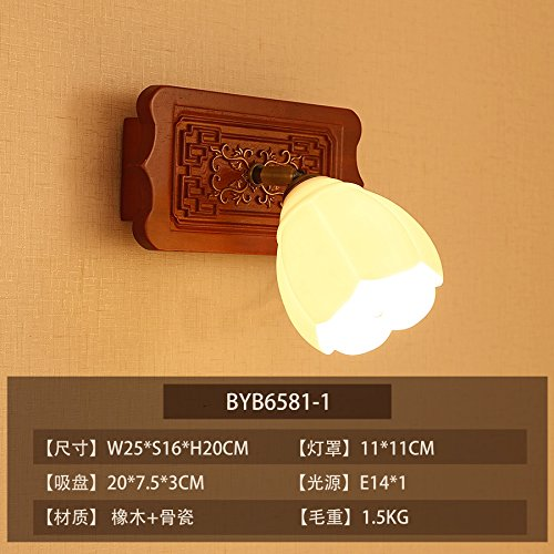 - Avanthika Modern Vintage Wall Sconces Wall Lights Chinese Bone China Bedroom Bedside Lamp Living Room Study is Simple and Exquisite Wooden Led,Paragraph 1