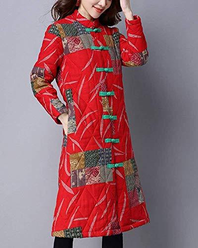 Primaverile Outerwear Single Vintage Confortevole Donna Classiche Estilo Rot Giacca Especial Breasted Autunno Lunga Fashion Cappotti Stampati Trench Manica qdZ8gWqn5