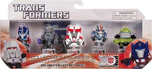 "Optimus Prime, Megatron, Ratchet, Starscream, Bulkhead ~ 1.25"" Mini-Figures: Transformers 30th Anniversary Series [Transformers Prime Set]"