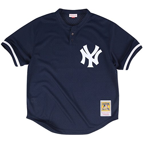 Mariano Rivera Navy New York Yankees Authentic Mesh Batting Practice Jersey XXL (52) (Practice Jersey Mlb Batting)