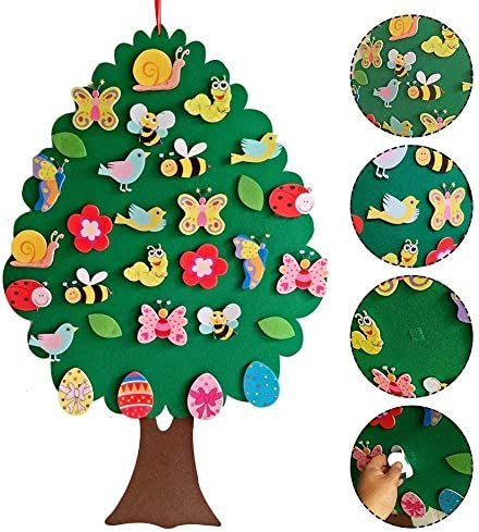 youngfate Ostern Filz Anhänger Personalisierte Kinderspielzeug Lernspielzeug DIY Osterspielzeug Kinderzimmer Cartoon Wanddekoration Anhänger
