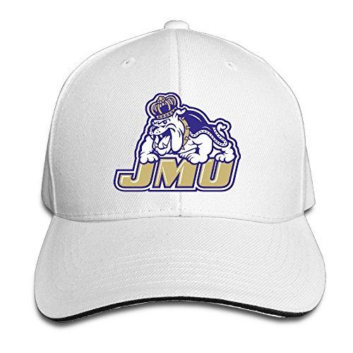 (HIITOOP James Madison Dukes Baseball Cap Hip-Hop Style White)