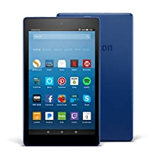 "Fire HD 8 Tablet with Alexa, 8"" HD Display, 32 GB, Marine Blue - with Special Offers (Previous Generation – 7th)"