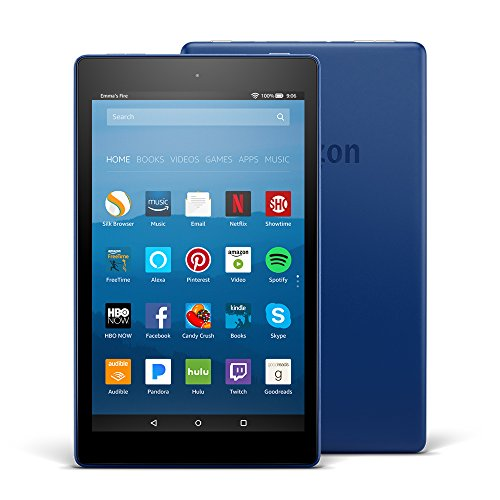 Fire HD 8 Tablet with Alexa  8 Inch HD Display  16GB Marine Blue (Large Image)