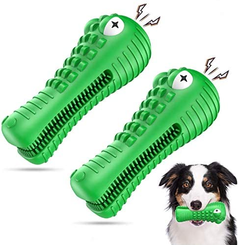 Am Bulan 2 Pack – Alligator Chew Toys for Medium/Large Dogs – Indestructible Aggressive Chewers Toy – Dental Care & Teeth Cleaning