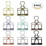 Mseeur Wire Binder Clips, 19mm, Assorted color, 8 Clips