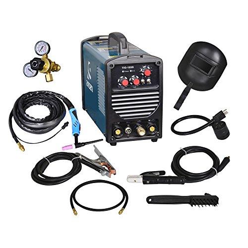 Ansen Portable IGBT Inverter Welder 115V/230V Dual Voltage TIG&STICK DC Welding Machine (160AMP)