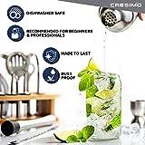 Cresimo Cocktail Shaker Bar Set - Brushed Stainless