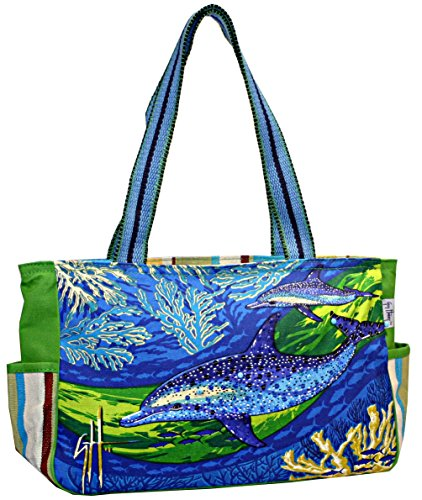 Dolphins in Motion Medium Tote Bag