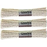 3 BUNDLES Randy's Pipe Cleaners ~ Hard Bristle ~ 132 Ct total ~ 100% Cotton