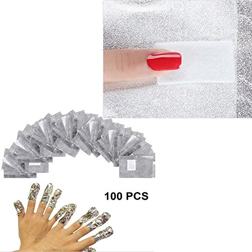 Vinmax 100 Pcs/Lot Nail Cleaner Wraps,Aluminium Foil Nail Ar