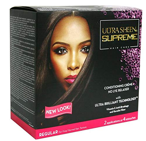 Ultra Sheen Supreme No Lye Regular Relaxer Kit, Value Pack,
