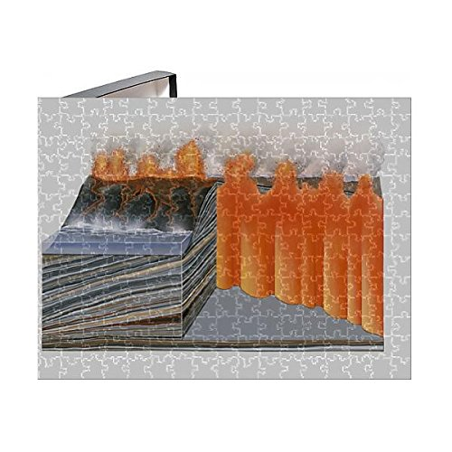 Cross Section Volcano - 252 Piece Puzzle of Cross section illustration of basaltic volcano (13547843)