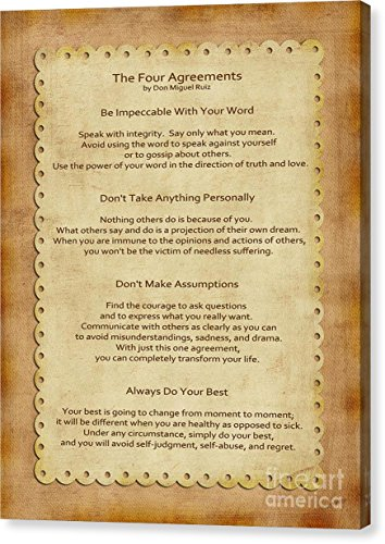 image regarding The Four Agreements Printable referred to as Galleon - \