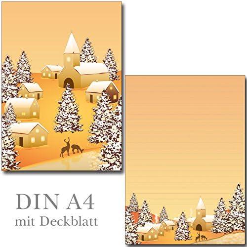 1 Schreibblock Winterdorf 25 Blatt Format DIN A4 mit Deckblatt 7350