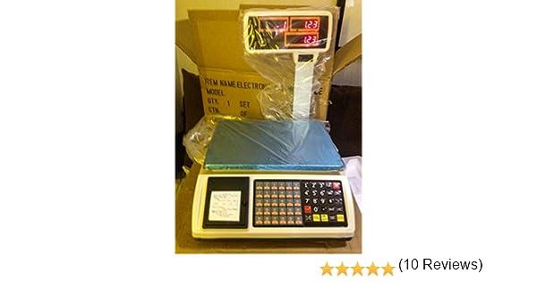 balanza bascula con ticket programable con torre y 1000 plus: Amazon.es: Industria, empresas y ciencia