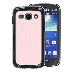 A-type Arte & diseño plástico duro Fundas Cover Cubre Hard Case Cover para Samsung Galaxy Ace 3 (Honeycomb Pattern Peach Pink Pastel)