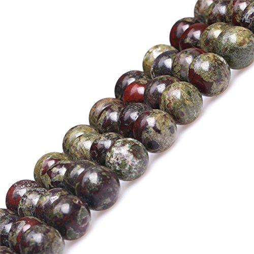 Australia Blood Jade Beads for Jewelry Making Natural Gemstone Semi Precious 10mm Round Green Red 15