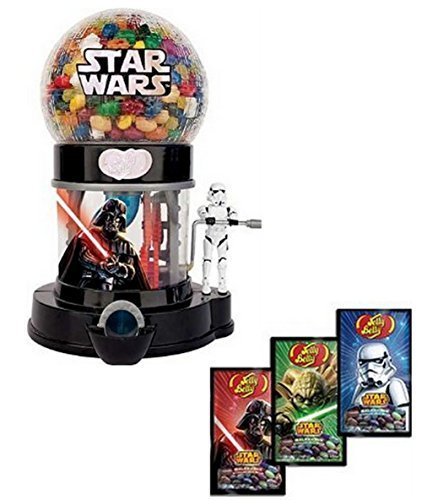 Jelly Belly Star Wars Death Star Machine Dispenser & 3 - 1 oz. Bags Galaxy Sparkling Jelly Beans by Jelly Belly