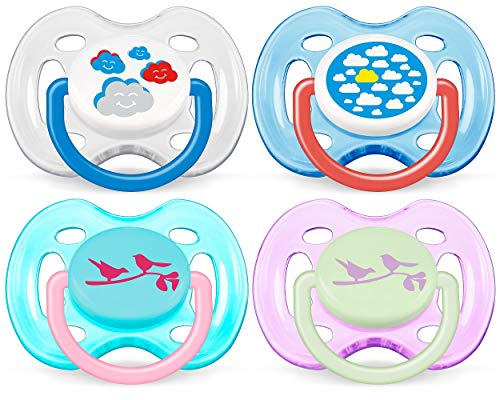Philips AVENT BPA Free Fashion Infant Pacifier, 0-6 Months, 2 Pack, Colors may vary