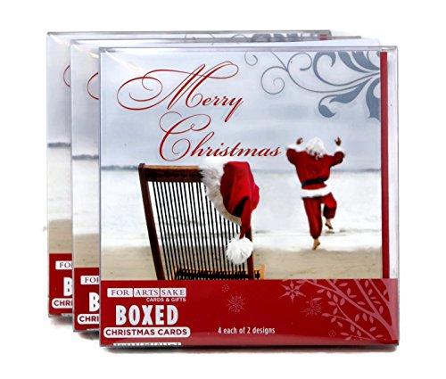 Christmas Holiday Greeting Cards, Beach Santa Theme, 24 ()