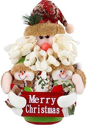Adornos de Navidad Sentado Adornos Navideños de Mesa Chimenea ...