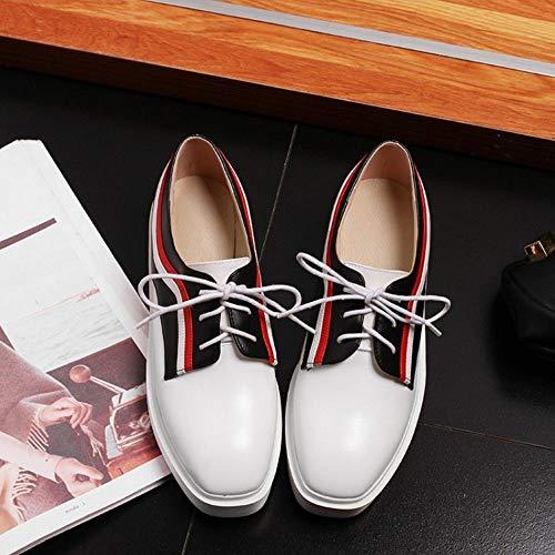 Taoffen forme Décontractée 8 Blanc Mode Printemps Elégant Femmes Chaussures Formateurs Plate Z1OHq