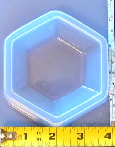 Hexagon Paperweight Reusable Plastic Mold 574]()