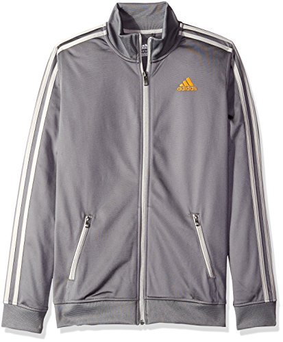 adidas Big Boys' Separates Training Track Jacket, Granite/MGH, Large/14-16