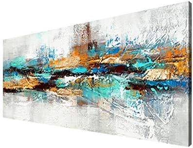 Moderna Sobre Carteles Cuadro En Lienzo,Pintura Azul Marino Imágenes Abstracta Impresiones De La Lona Arte De La Pared Para La Decoración De La Sala De Estar- (Sin Marco)(50x150cm)