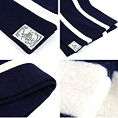 Wool Scarf: Navy / White