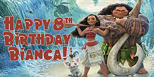 Moana Personalized Birthday (Party Personalized Photo Banner)