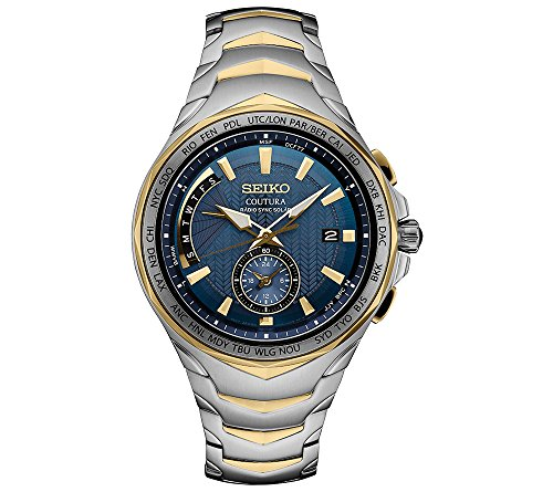 Seiko Men's Coutura Stainless Steel Radio Sync Solar Watch