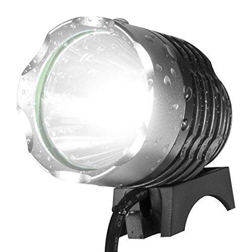 Brightest Bike Light Kit! Kobra Ultra Bright Bike Light - 1200 Lumens Waterproof Safety Bicycle Light | 6400 mAh Rechargeable Battery - Free Bonus Red Tail Light