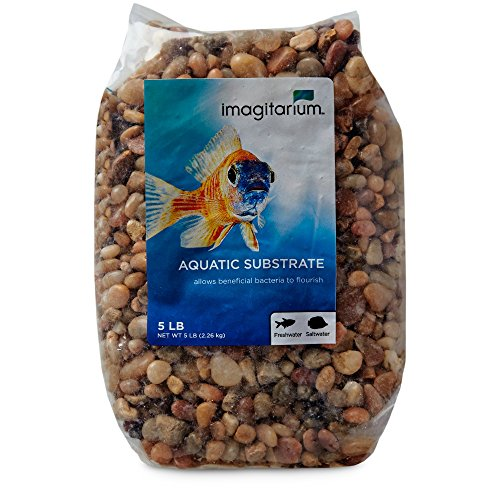 Imagitarium River Rock Shallow Creek Aquarium Gravel, 5 lbs (Creek Pebbles)