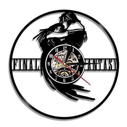 Final Scratch Vinyl Record (ZJWZ Wall Clock Final Fantasy Black Decorative Vinyl Record Wall Clock,0172)