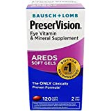 Bausch And Lomb Preservision Eye Vitamin And Mineral Supplements With Areds 120 Softgels (Pack of 4)