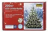 Купить Idena LED Lichterkette 200er, ca. 27,90 m, für innen/außen, warm-weiß