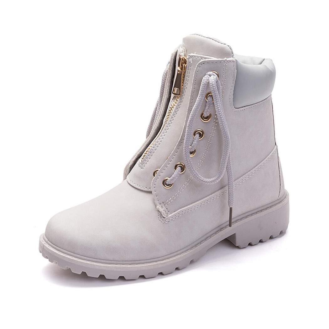 Herbst und Winter Martin Stiefel Zwei tragen Spitze Stiefel Frauen Casual Flache Werkzeug Stiefel Frauen im freien Wasserdichte warme beiläufige Schuhe