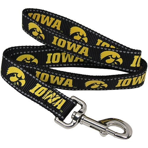 (Pet Goods Manufacturing NCAA Iowa Hawkeyes Dog Lead, Large )