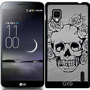 Funda para LG Optimus G (E975) - Cráneo Con Las Rosas by More colors in life