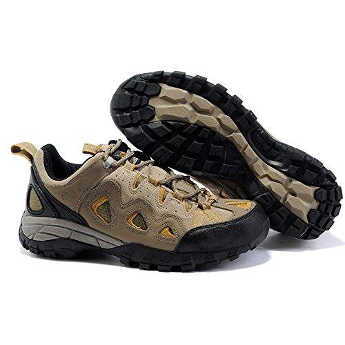 CHT Invierno Al Aire Libre Primavera Verano Caer Ligeros Respirables De Excursión Los Zapatos De Los Hombres De Cuero Marrón Tamaño Del Alpinismo-gris Opcional Brown